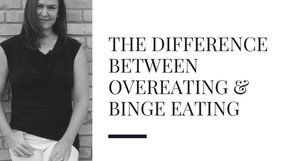 What is the difference between overeating and binge eating?